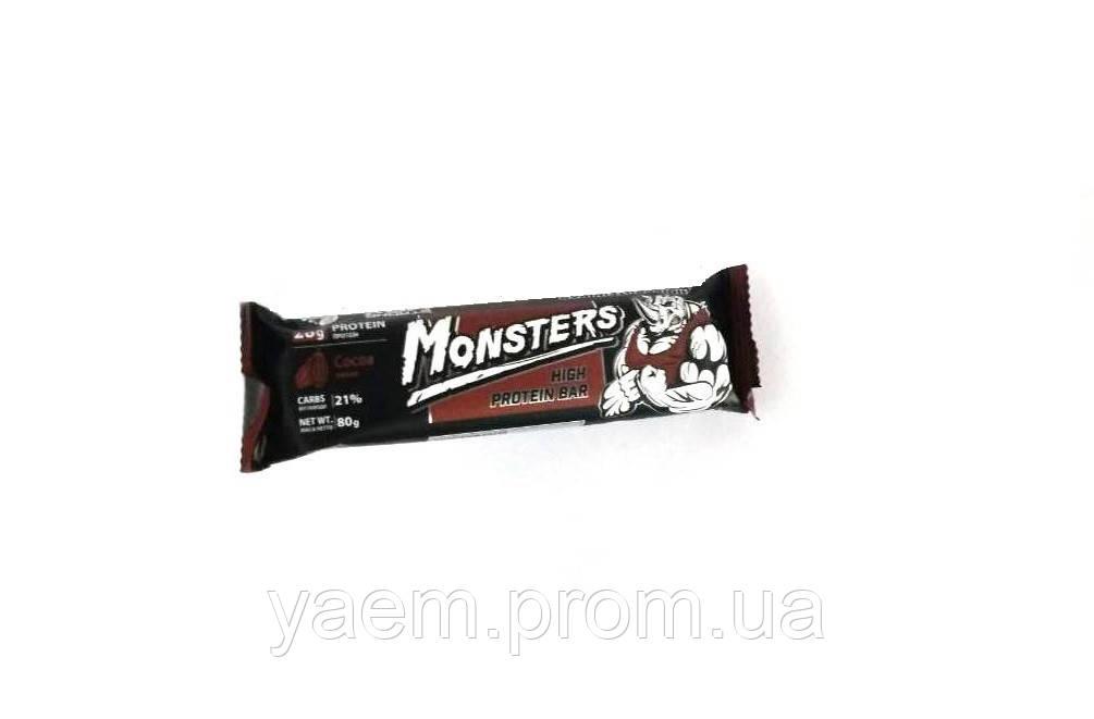 Протеиновый батончик Monsters high protein bar 80g Cocoa
