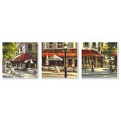 Картина по номерам Летнее кафе (Триптих), 50x150 см., Babylon