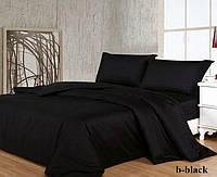 Двуспальный комплект. Черное постельное постельное белье Простыня на резинке