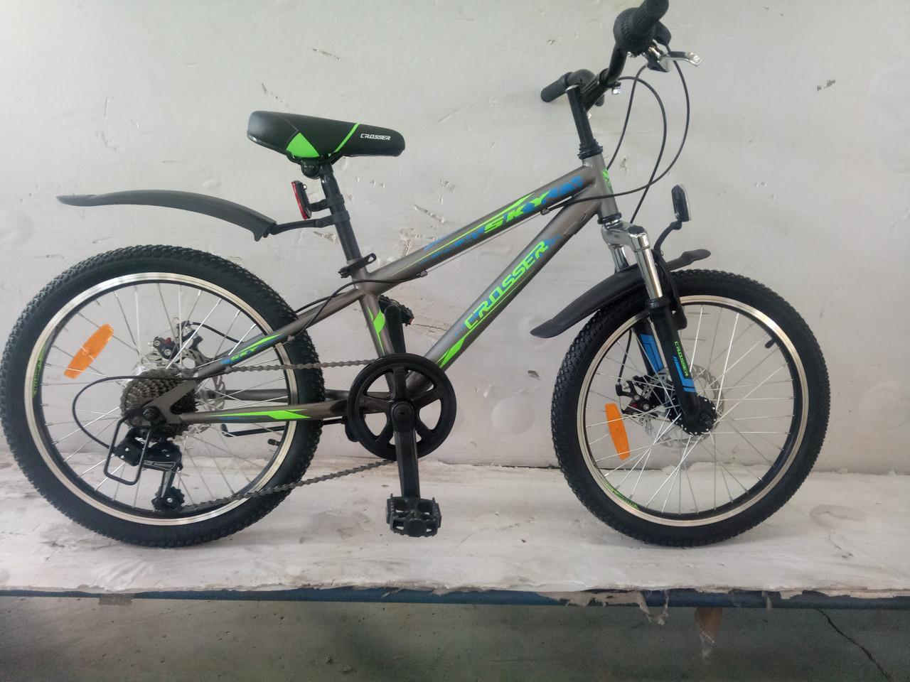 Спортивный горный велосипед Crosser Sky 20 дюймов GREY