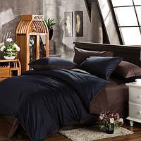 Черно-коричневое постельное постельное белье. Евро комплект Простыня на резинке