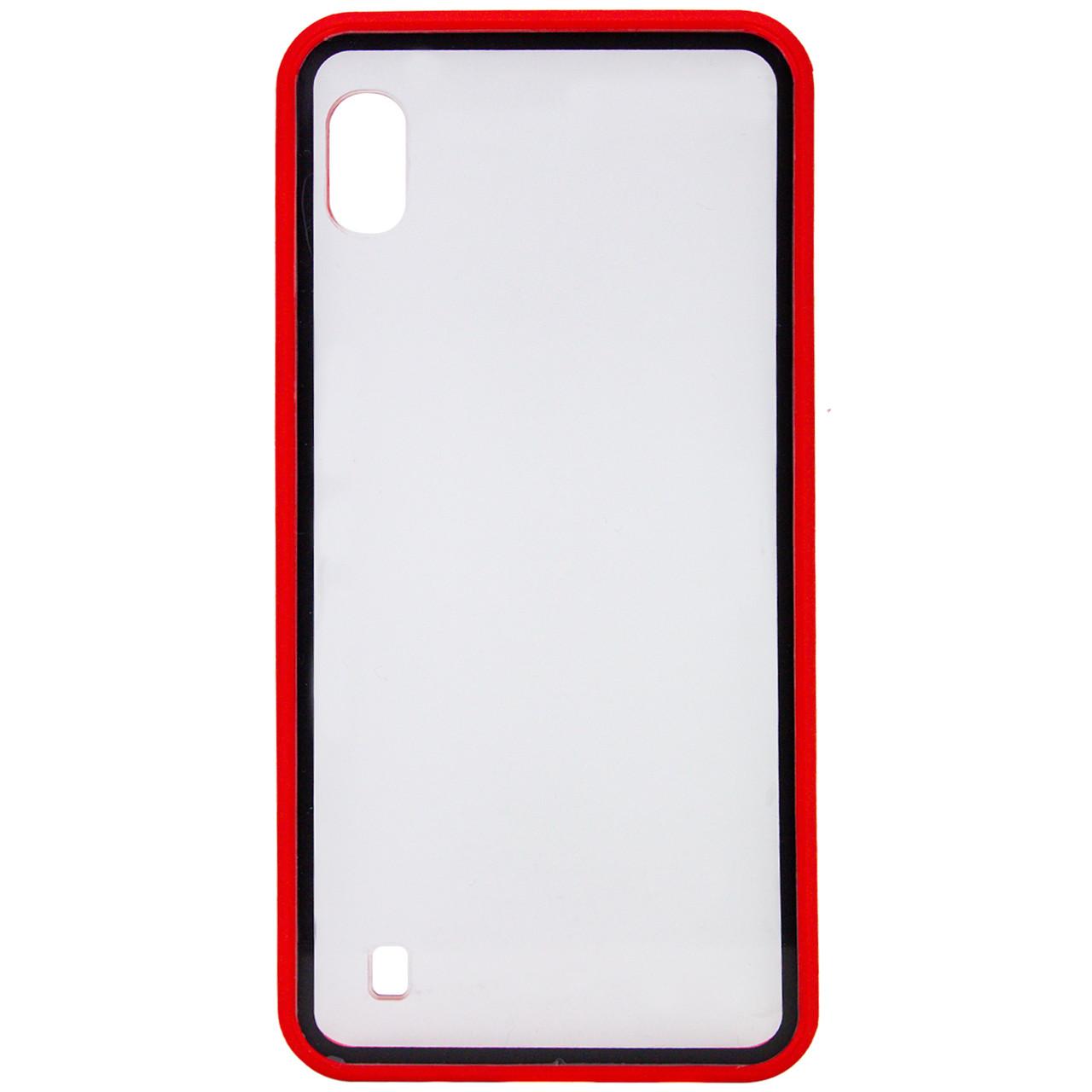 Прозрачный TPU+PC чехол Epic с цветным бампером для Samsung Galaxy A10 (A105F)