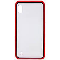 Прозрачный TPU+PC чехол Epic с цветным бампером для Samsung Galaxy A10 (A105F), фото 1