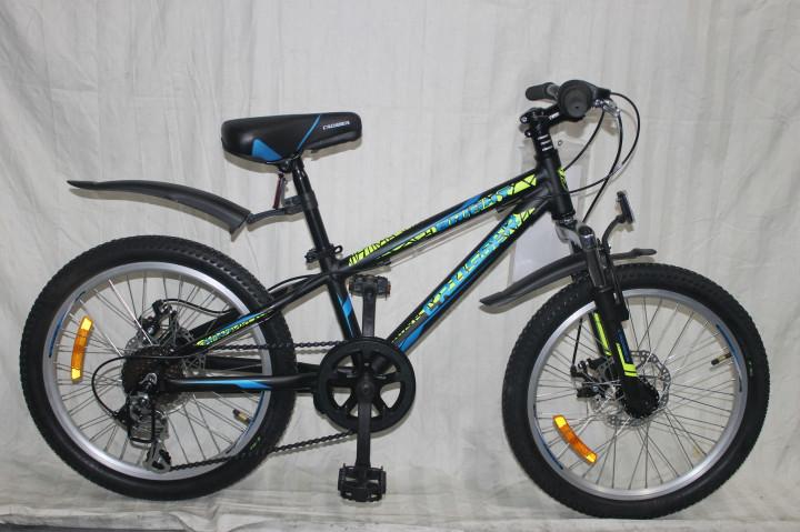 Спортивный горный велосипед Crosser Bright 20 дюймов  BLACK