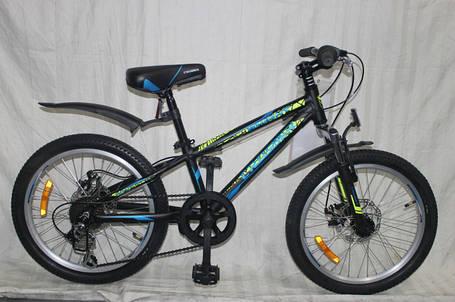 Спортивный горный велосипед Crosser Bright 20 дюймов  BLACK, фото 2