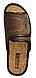 Тапки мужские Белста( кофе) на липучке стелька пробка, фото 3