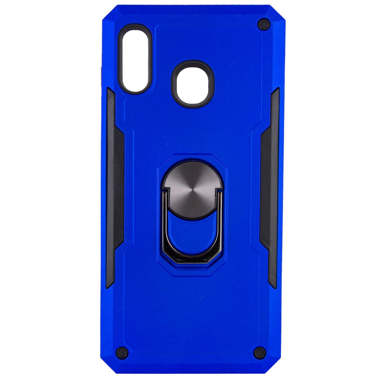 Ударопрочный чехол SG Ring Color магнитный держатель для Samsung Galaxy A20 / A30