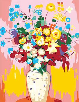 "Картина по номерам. ""Ваза с цветами"" (худ. Одилон Редон) 35х45см ROSA START Бесплатная Доставка"