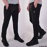 Размеры 46-56. Черные мужские спортивные штаны ST-BRAND / Трикотаж двухнитка