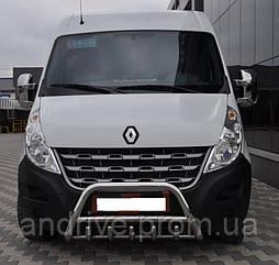 Кенгурятник с грилем (защита переднего бампера) Opel Movano B 2010+