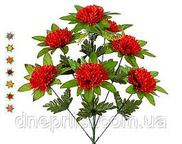 """Букет искусственный """"Гвоздика в розетке"""" 7 цветков, 9 см, 58 см (10 видов)"""