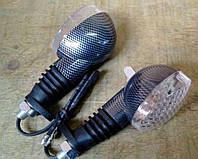 Повороты диодные (пара)   овальные   (черные, прозрачное стекло, 15 диодов)   VV
