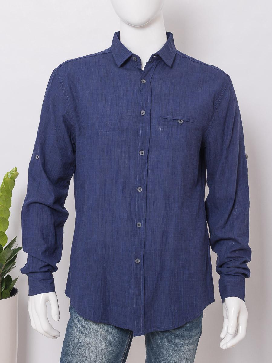 Рубашка с длинным рукавом мужская MTR 0064 ERK GML INDIGO