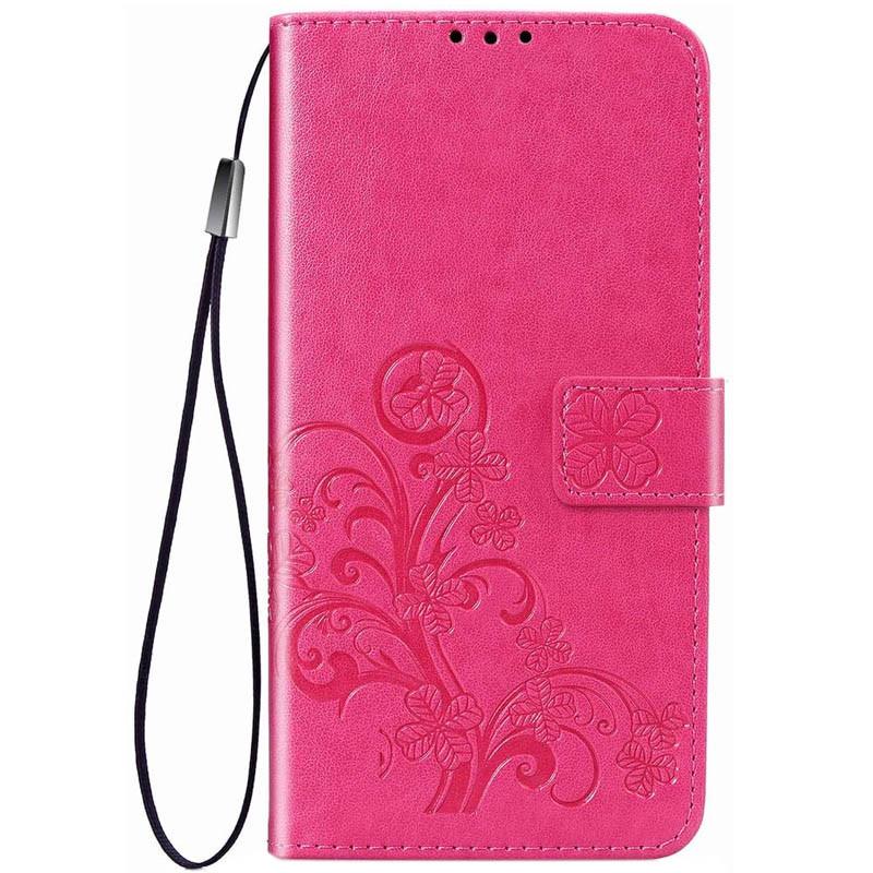 Кожаный чехол (книжка) Four-leaf Clover с визитницей для Samsung Galaxy M20