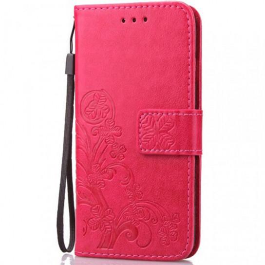 Кожаный чехол (книжка) Four-leaf Clover с визитницей для Xiaomi Redmi Note 7 / Note 7 Pro / Note 7s