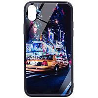 "TPU+Glass чехол Night series для Apple iPhone XS Max (6.5""), фото 1"