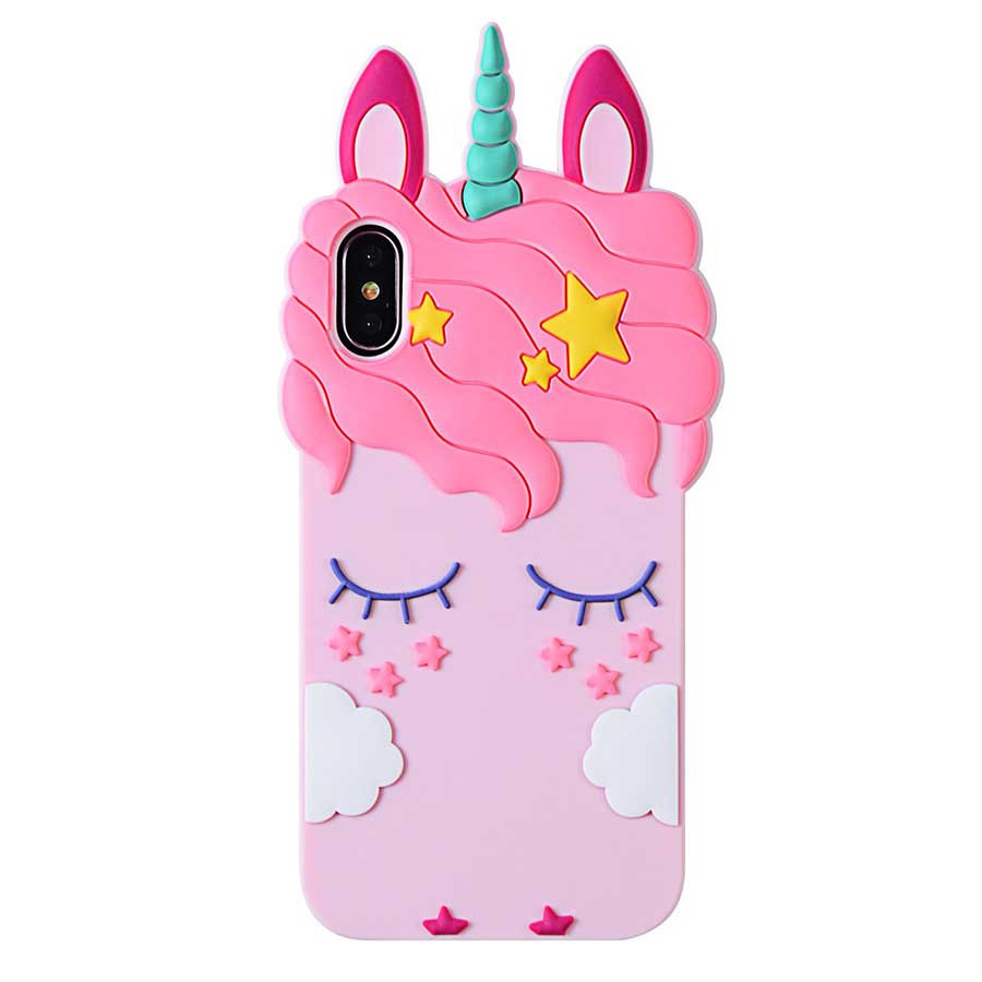 "Силиконовая накладка 3D Little Unicorn для Apple iPhone X (5.8"")"