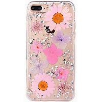 "TPU чехол ""Flowers and tinsel "" для Apple iPhone 7 plus / 8 plus (5.5""), фото 1"