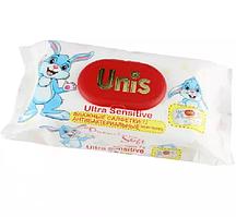 Серветки вологі антибактеріальні Unis для дітей, без запаху (72 шт.)