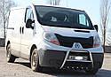 Кенгурятник с грилем (защита переднего бампера) Opel Vivaro 2001-2013, фото 3