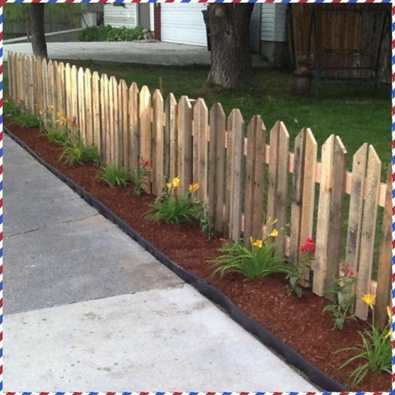 Декоративный забор из дуба, для сада LNK 50 см