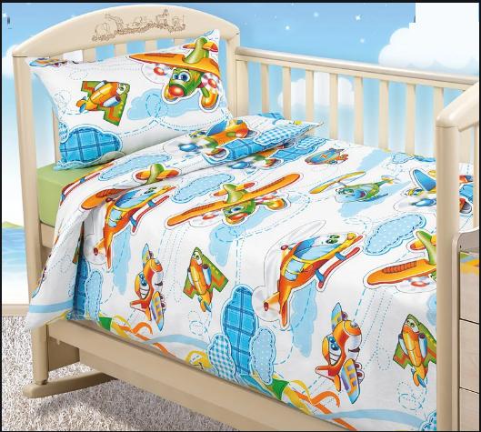 Комплект постельного белья  для малышей в кроватку От винта (бязь)