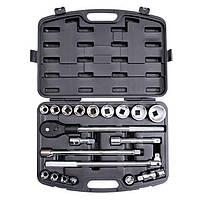 Профессиональный набор инструмента 3/4, 20 ед (гол. 19-50 мм) пластиковый кейс INTERTOOL ET-6023