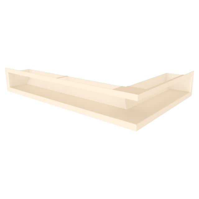 Вентиляційна решітка для каміна кутова ліва SAVEN Loft Angle 90х400х600 кремова