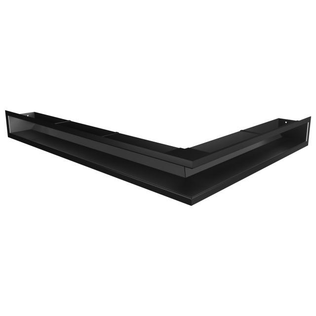 Вентиляційна решітка для каміна кутова ліва SAVEN Loft Angle 90х600х800 чорна