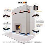 Вентиляційна решітка для каміна кутова ліва SAVEN Loft Angle 90х600х800 чорна, фото 6