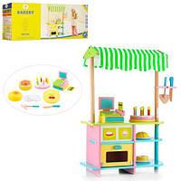 Деревянная игрушка Магазин, кондитерская, прилавок, сладости
