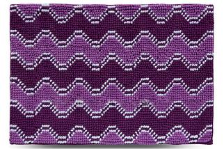 Килимок для ванної 55x80 см фіолетовий Хвиля Dariana D-6606