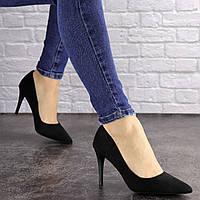 Туфли женские лодочки на шпильке Fashion Agora 1594 36 размер 23 см Черный