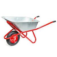 Тачка садово-строительная, 85 л., 150 кг, 1 пневмоколесо с подшипником 15 (4.00-8) INTERTOOL WB-0815