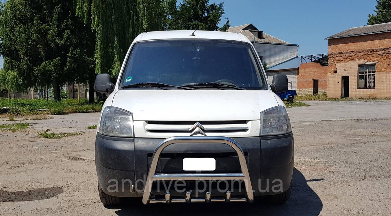 Захист переднього бампера (кенгурятник) Peugeot Partner 1996-2009