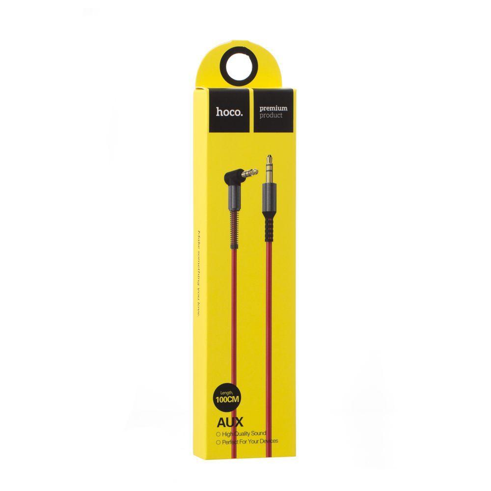 AUX кабель Hoco UPA02 Spring Audio (1м, красный)