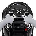 Каталка - толокар с родительской ручкой Mercedes-Benz (свет фар, музыка, MP3) арт. 3186-2, фото 8
