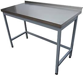 Стол производственный из нержавеющей стали без полки 1000, Цельносварная, Нержавеющая сталь, AISI 430, Пристенный, 600