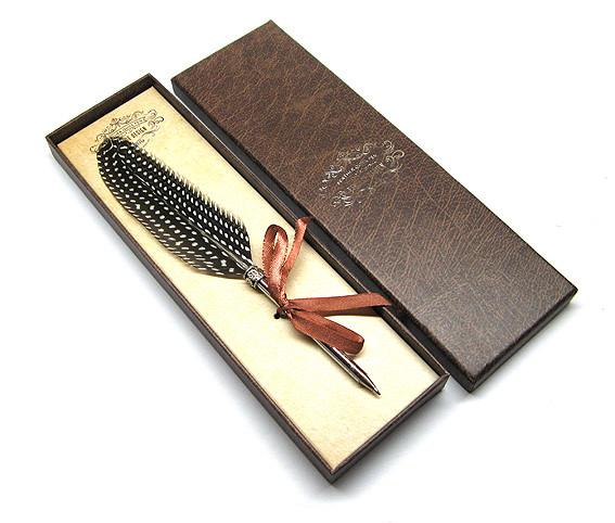 Ручка пір'яна подарункова Перо фазан