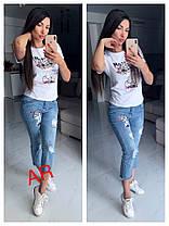 Хит сезона ультрамодный костюмчик джинсы и футболка, фото 2