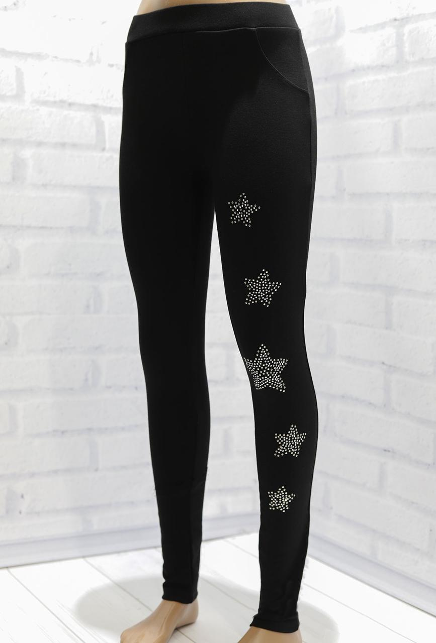 Лосины для девочки демисезонные, со стразами (Звезды), Breeze (размер 128)