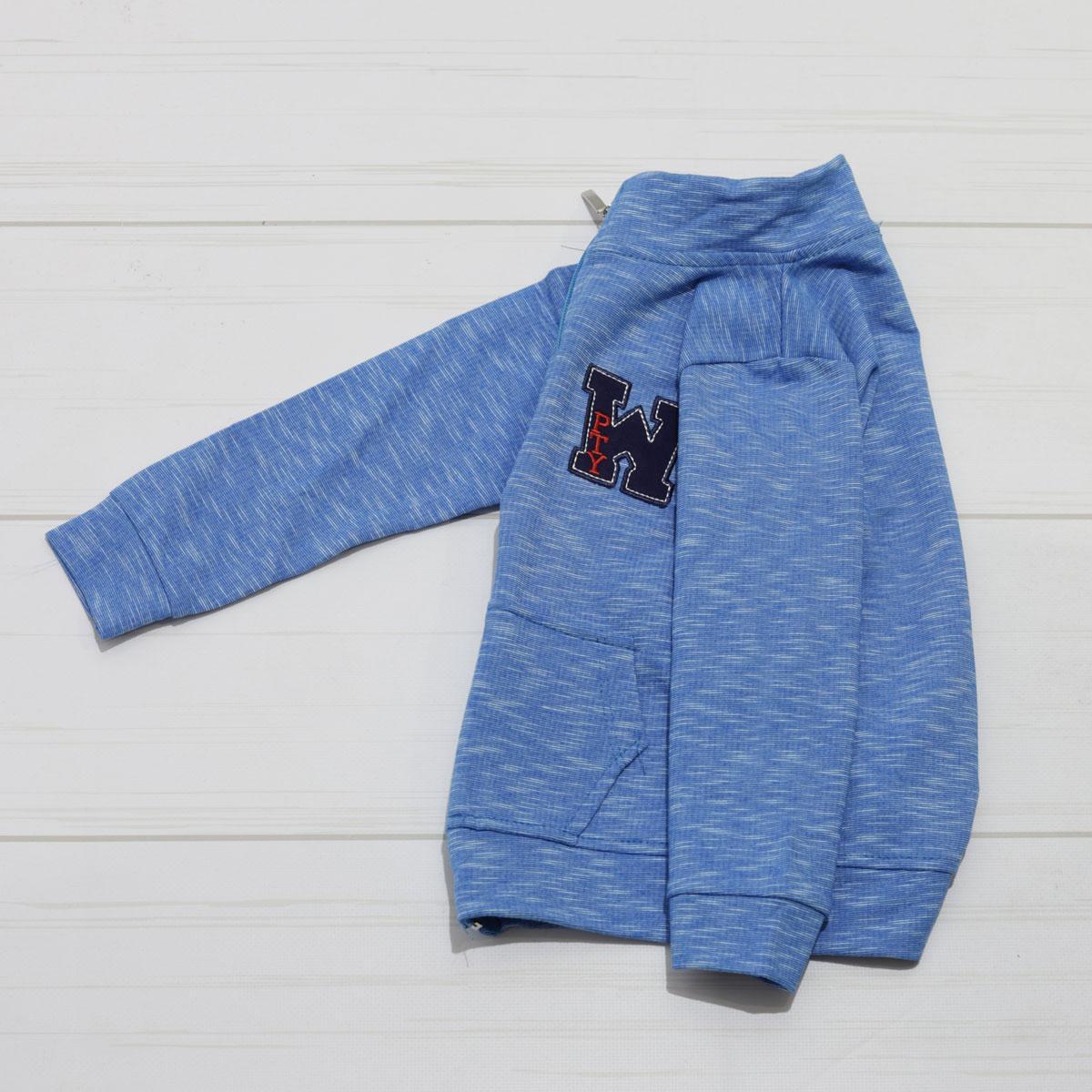 Кофта спортивная для  маьчика с длинным рукавом, на молнии, х/б, Paty Kids