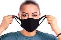 """Маска защитная для лица многоразовая трехслойная оригинал черная """"Protective masks for black"""""""