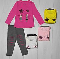 Комплект для девочки демисезонный, футболка длинный рукав+лосины (Зайцы), Breeze
