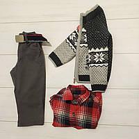 Комплект для мальчика тройка (брюки+кофта с орнаментом+рубашка длинный рукав),Ramada