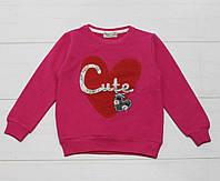 Свитшот для девочки с длинным рукавом, демисезонный,  рисунок Сute, Paty Kids, фото 1