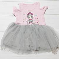 Платье для девочки, короткий рукав, фатиновая юбка (LOL), Breeze