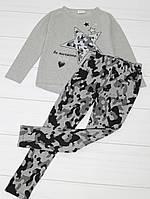 Комплект демисезонный для девочки: кофта длинный рукав+лосины, (рисунок Звезда), Breeze