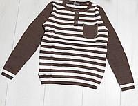 Детский свитер для мальчика в полоску, круглая горловина, ТМ Лютик