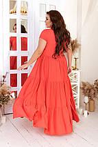 """Летнее расклешенное платье в пол """"Фаина"""" с ярусной юбкой (большие размеры), фото 2"""